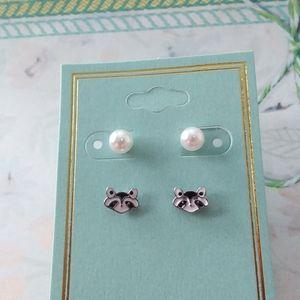 Raccoon Earrings (Set of 2)